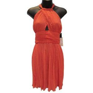 BB Dakota Orange Halter Dress